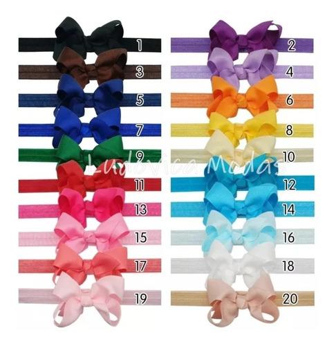 kit 08 faixas laço bebê menina tiara laço meia seda enxoval