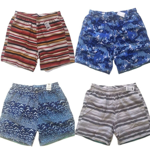 kit 08 shorts tactel masculino praia adulto estampado surf