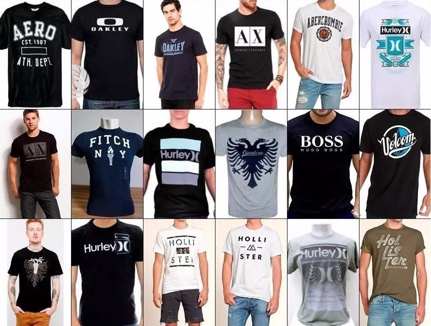 Kit 09 Camiseta Camisa Masculina Baratas Marcas Famosas - R  129 9019cea6e022f