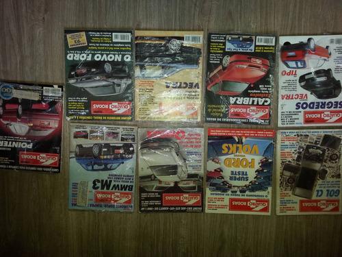 kit 09 revistas 4 rodas decada de 90