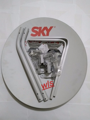 kit 1 antena banda ku 60 cm + lnb simples (completa)