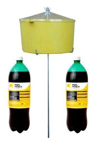 kit - 1 armadilha para mosca com 2 refil atrativo 2 litros