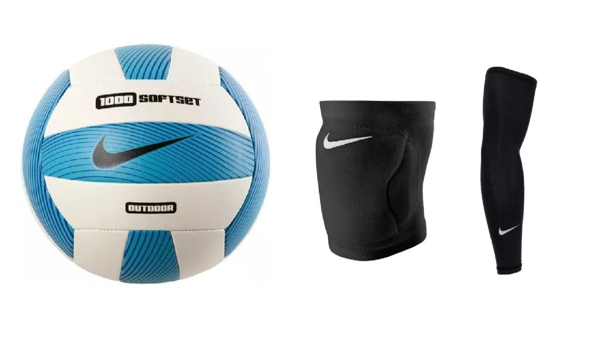 Kit 1 Bola De Vôlei Nike + 1 Manguito + 1 Joelheira - R  444 3e33bf0b25ceb