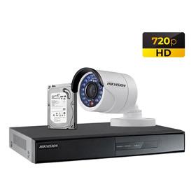 Kit 1 Cámara De Seguridad Completo 500gb Hd Hikvision