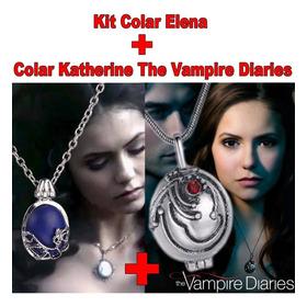 Kit 1 Colar Elena + 1 Colar Katherine The Vampire Diaries