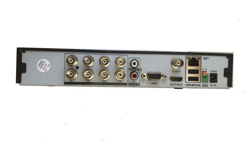 kit 1 dvr 8 canais ahd + 2 câmera de seguranca 634