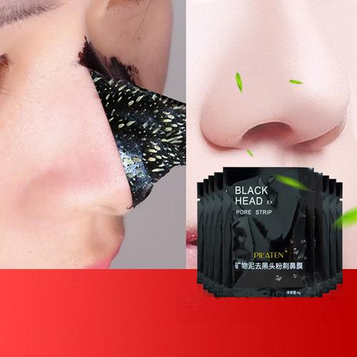 kit 1 extrator + 2 mascara preta remove cravos espinhas
