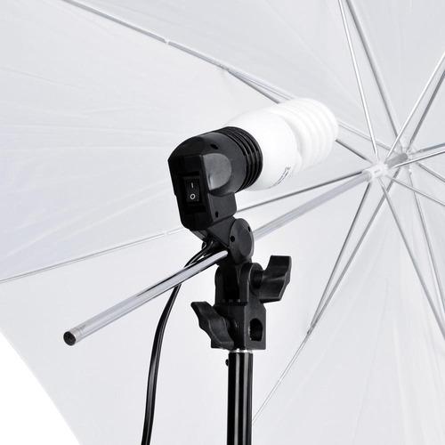 kit= 1 foco iluminación continua + 1 paraguas difusor blanco