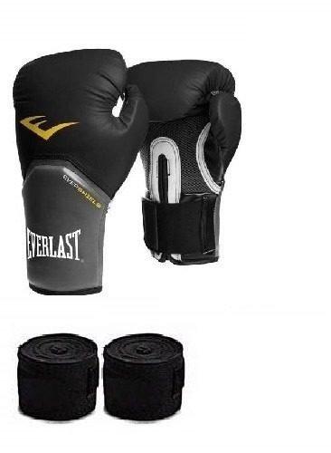 Kit 1 Luva De Boxe  Muay Thai Pro Everlast + Bandagem - R  147 fece55c023748