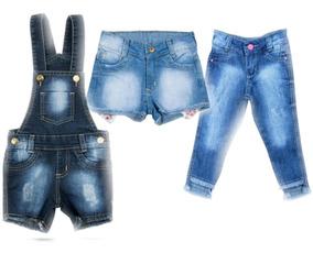 54098937f925d5 Kit 1 Macacao 1 Short E 1 Calca Jeans Bebe Meninas Tam 1 2