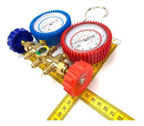 kit 1 manifold ar split r22 r404a r134a + 2 adaptador r410