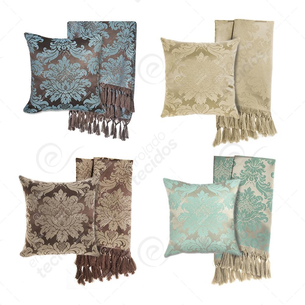 d26b262ef kit 1 manta para sofá em jacquard + 6 capas de almofada. Carregando zoom.