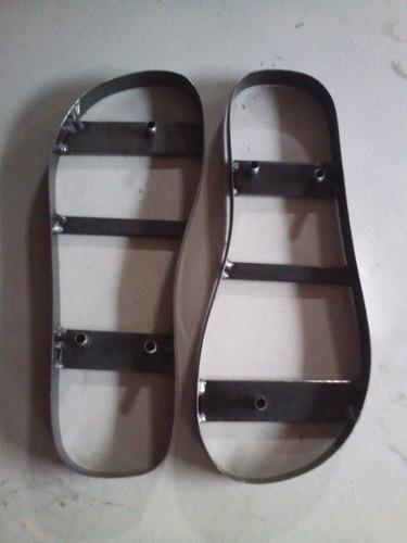 kit 1 par faca conjugado para corte chinelo e 2 chaveiro
