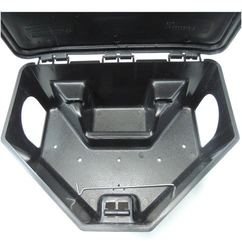 kit 1 porta iscas com chave, ratoeira, para matar ratos,