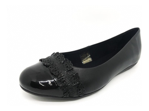 kit 1 sapatilha feminina couro bottero 308703 +1 meia trifil