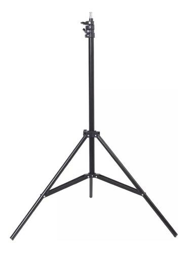 kit 1 soft box p 4 lamp tipo sombrinha 50x70cm + 1 tripe 2m