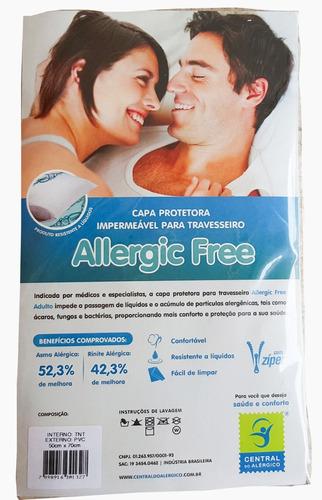 kit 1 solução antiácaro adf  + 2 capas antiácaro travesseiro