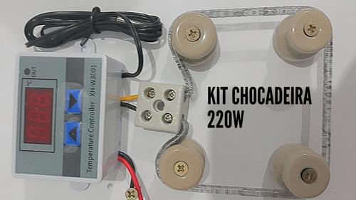 kit 1 termostato bivol 6 isoladores 1 conector 2.resistencia