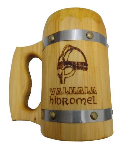 kit: 1 valhala hidromel - tradicional + 1 caneca madeira