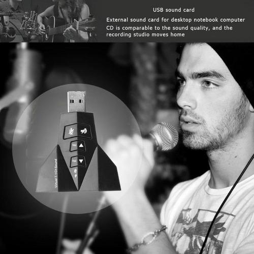 kit 10 adaptador 7.1 áudio placa de som usb 4 saidas p2