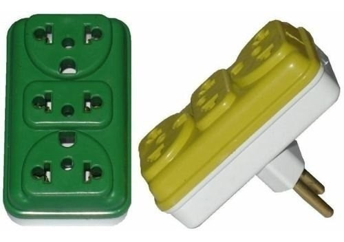 kit 10 adaptador tomada colorido bejamin universal pino novo