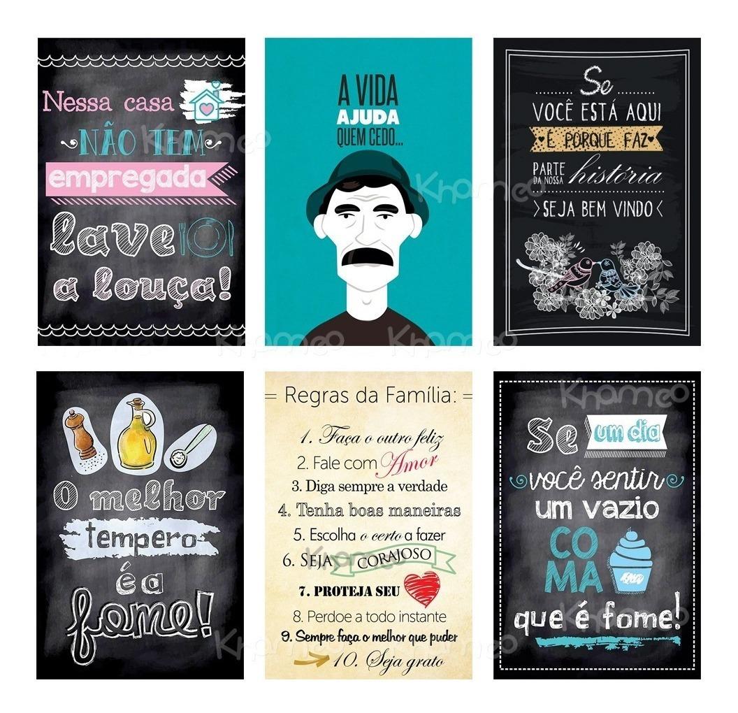 Kit 10 Adesivos Decorativos Frases Engraçada Motivação 30x20