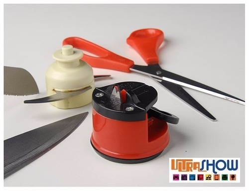 kit 10 afiador amolador de facas canivete tesoura c/ ventosa