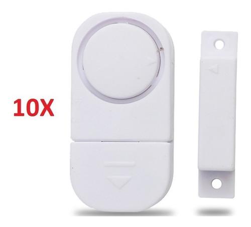 kit 10 alarmes contra invasão sonoro porta ou janela sem fio