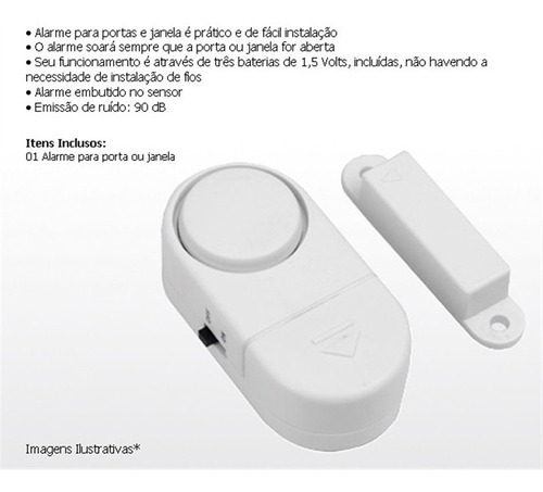 kit 10 alarmes sonoro de porta ou janela sem fios