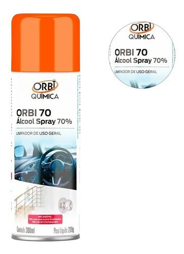 kit 10 álcool spray 70% antisséptico bactericida 300ml