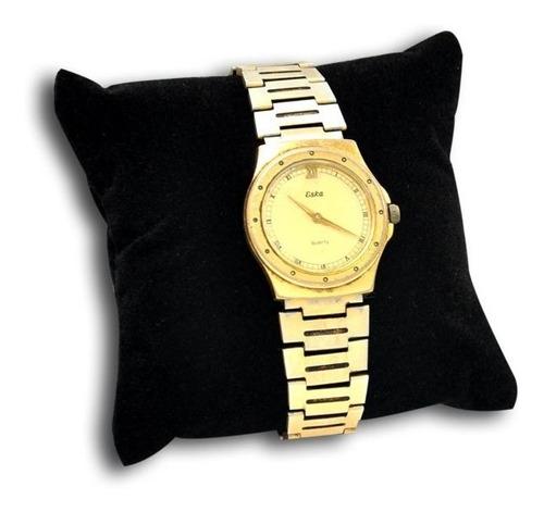 kit 10 almofada relógio em suede e fibra de silicone