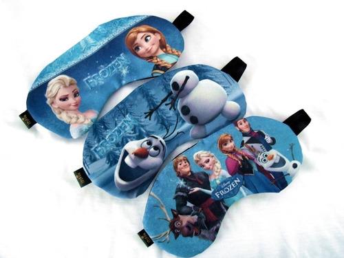 kit 10 almofadas de pescoço e máscara dormir frozen
