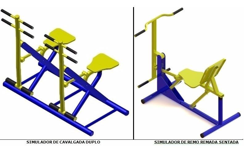 Kit 10 Aparelhos Academia Ar Livre R 17 300 00 Em Mercado Livre