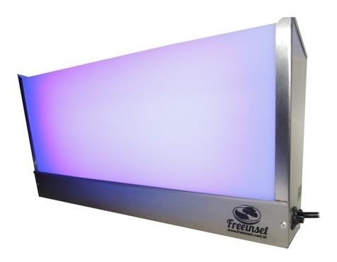 kit 10 armadilhas luminosas 2 lâmpada -inox escovado - mosca