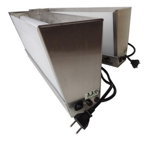 kit 10 armadilhas luminosas 4 lâmpada -inox escovado - mosca