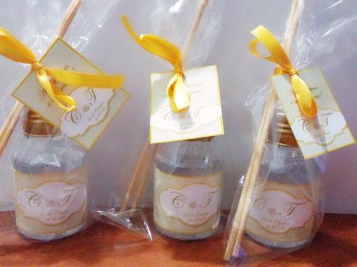 kit 10 aromatizadores 60ml lembrancinha chá de panela