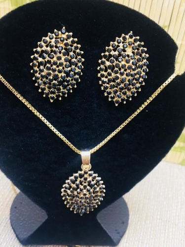 kit 10 atacado bijuteria conjunto luxo gargantilha brinco