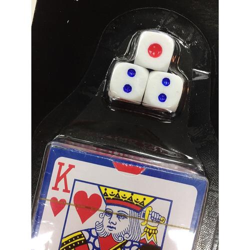 kit 10 baralho de plástico com 3 dados - atacado - revendo