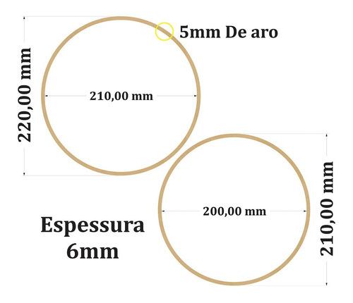 kit 10 bastidores de mdf crú bordado crochê 14 cm e 16 cm