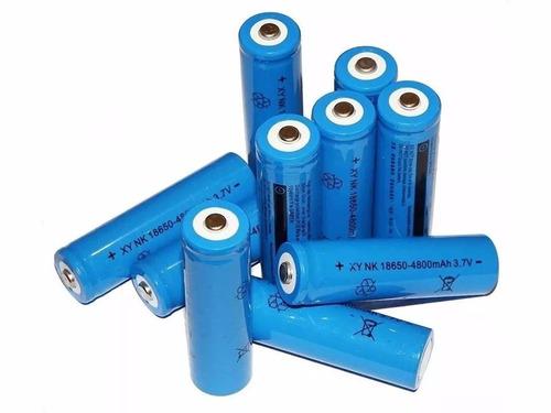 kit 10 baterias 18650 4200mah 3.7v para lanterna tática led