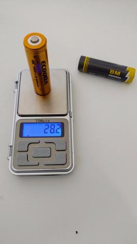 kit 10 baterias recarregável litio 3.7v lanterna tatica led