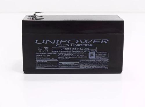 kit 10 baterias seladas 12v 1,3ah unipower 2 anos - up nova