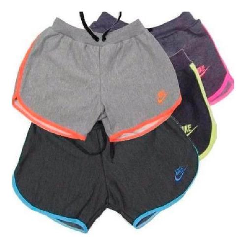 kit 10 bermuda short moletom feminina academia fitness top