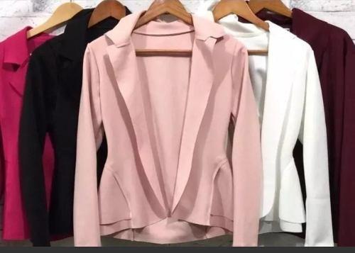 kit 10 blazer neoprene terninho feminino.