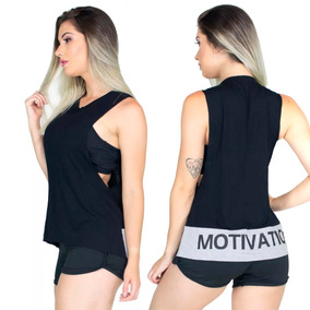 941f9dff07 Kit 3 Blusa Regata Cavada Feminina Moda Fitness Academia 267