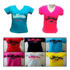 ecca166fa2 Kit 10 Blusinha Camiseta Feminina De Marca Gola V Atacado