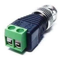 kit 10 bnc macho borne conector adaptador video camera cftv