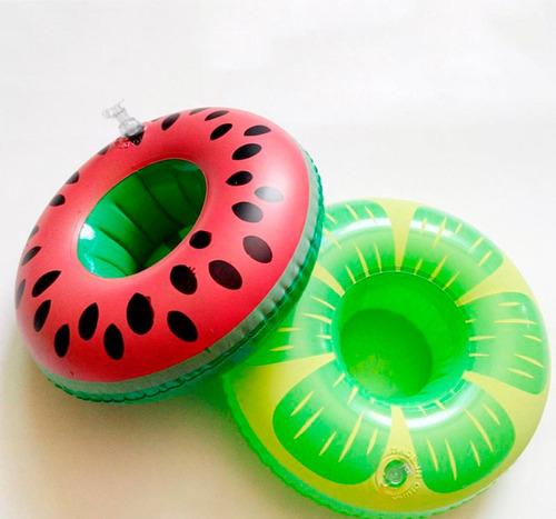 kit 10 boias frutas porta copo inflável p/ piscina diversos