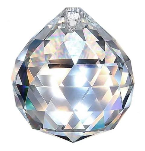kit 10 bolas esferas multifacetada cristal k9 40mm feng shui