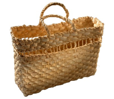 kit 10 bolsas palha de milho praia feira ref.2604 32x12x22cm
